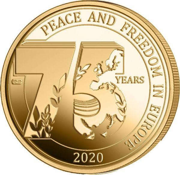 2,5 Euro Belgien 75 J. Frieden und Freiheit 2020 CN St Blister