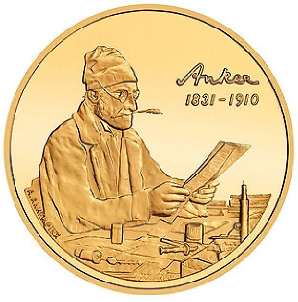 """50 CHF Schweiz """"100.Todestag von Albert Anker"""" 2010 Au PP"""