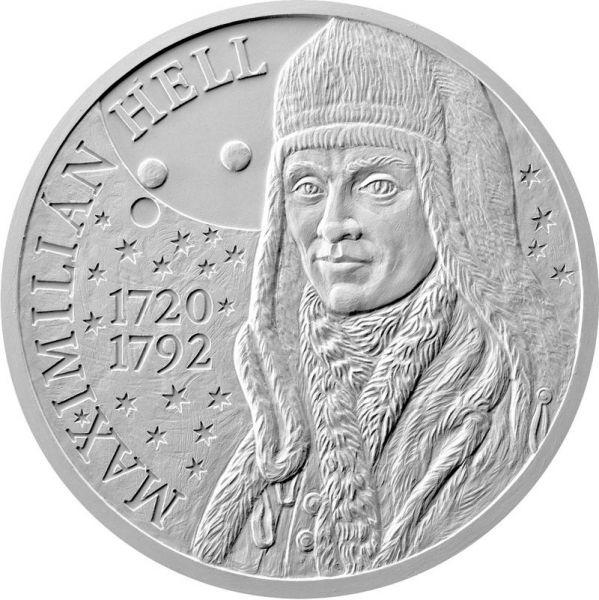10 Euro Slowakei 300. Geb. Maximilian Hell 2020 Silber St