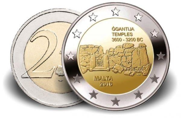 """2 € Malta """"Ggantija"""" 2016 CN vz"""