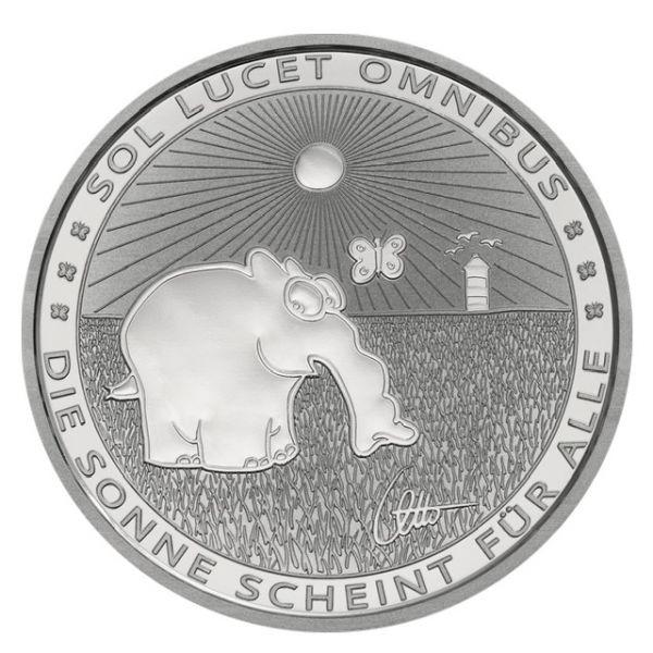 1 Dollar Tuvalu Ottifanten - Sunnyfant 2021 Silber St
