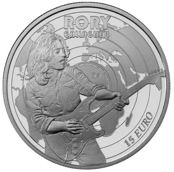 "15 Euro Irland ""70. Geb. Rory Gallagher"" 2018 Silber PP"