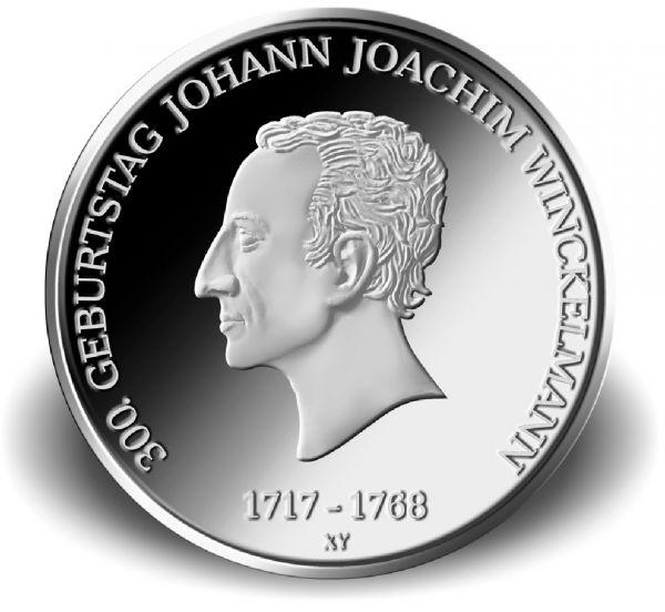 """20 € DE """"300. Geb. Johann Joachim Winckelmann"""" 2017 Ag St -F-"""