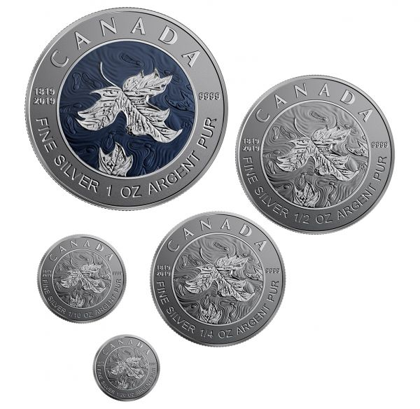 "15 $ Kanada ""Maple Leaf Fractional Set"" 2019 Silber RP"