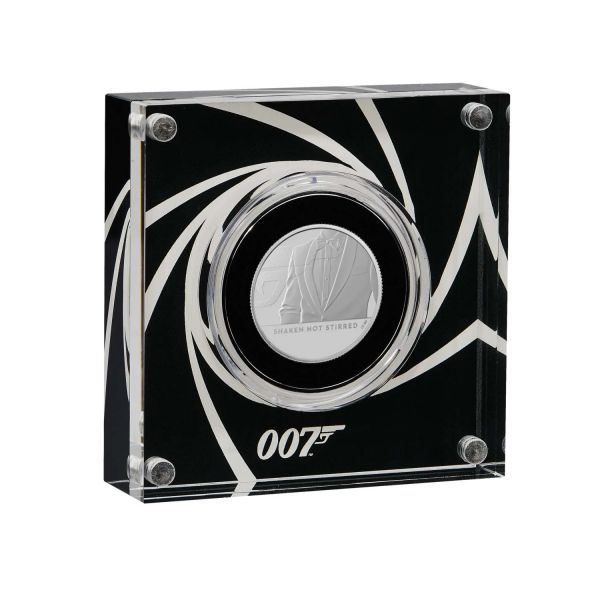 1 Pfund GB James Bond Geschüttelt, nicht gerührt 2020 Silber PP #3