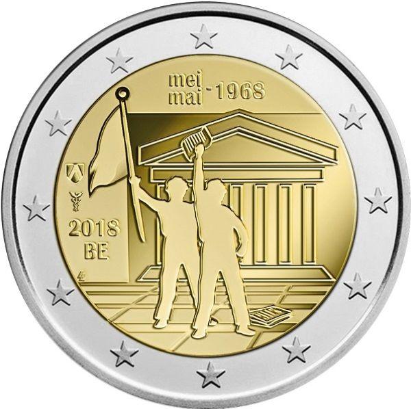 """2 € Belgien """"50 J. Studentendemonstrationen"""" 18 CN St -Blister-"""