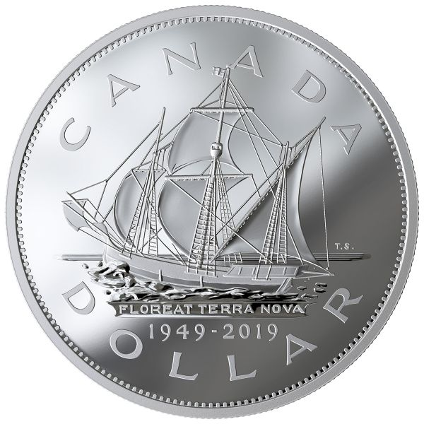 "1 $ Kanada ""70 J. Beitritt Neufundlands zu Kanada"" 2019 Silber PP"
