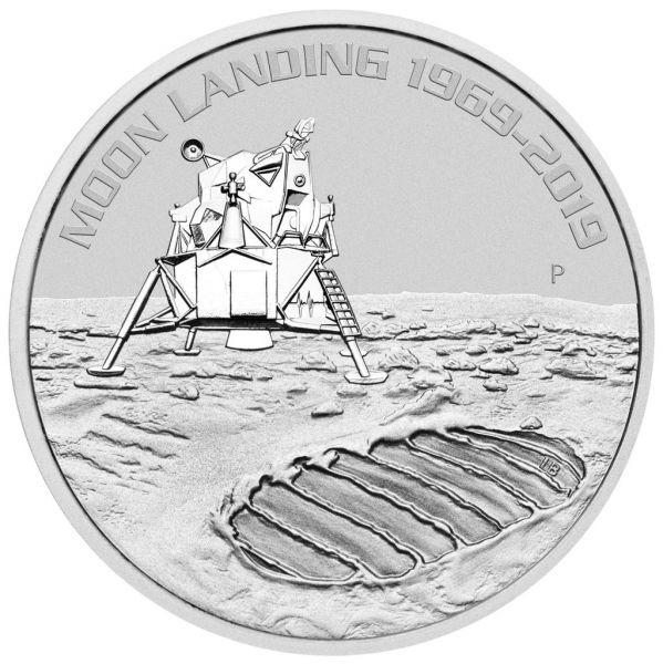 """1 $ Australien """"50 J. Mondlandung"""" 2019 Silber St"""
