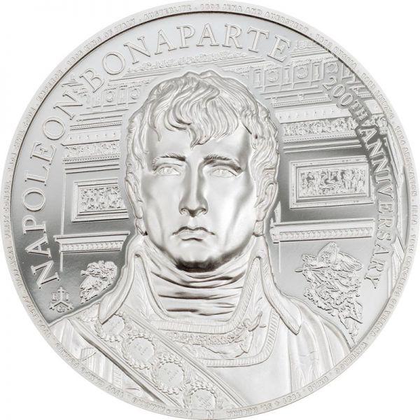 1 Pfund St. Helena 200 Td. Napoleon Bonaparte 2021 Silber PP
