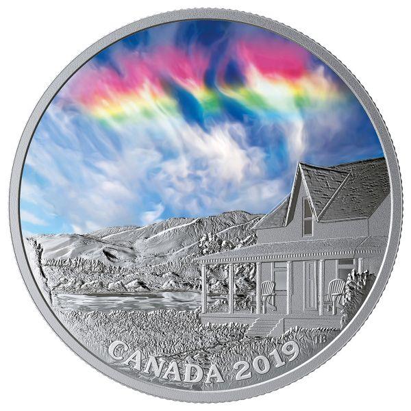 20 Dollar Kanada Feuer-Regenbogen #1 2019 Silber PP