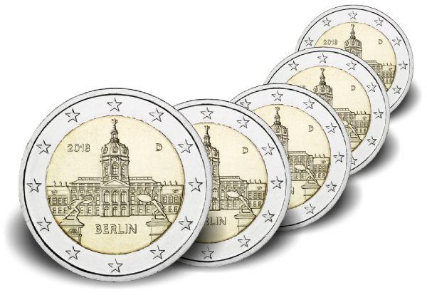 """5x2 € Berlin """"Schloss Charlottenburg"""" 2018 CN bfr A-J"""
