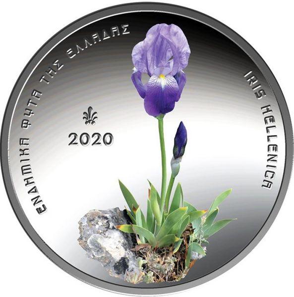5 Euro Griechenland Griech. Flora Iris Hellenica 2020 Silber PL