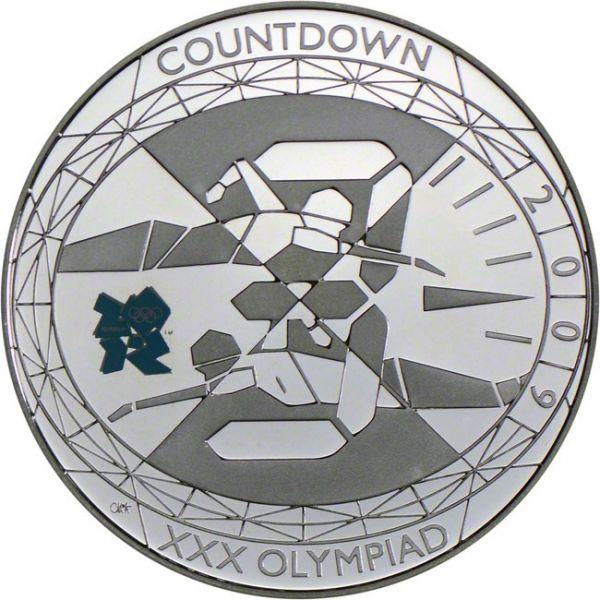 """5 £ Großbrit. """"Der Countdown -3-"""" 2009 CuNi St"""