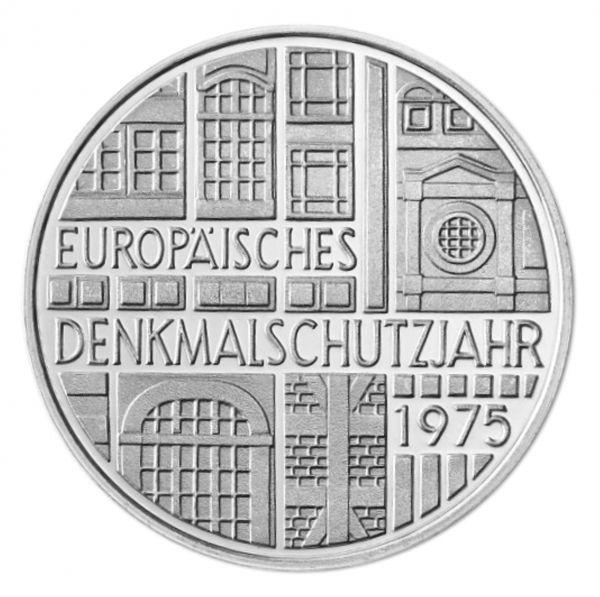 5 DM Europäisches Denkmalschutzjahr 1975 Silber St