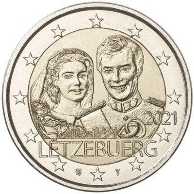 2 Euro Luxemburg 40. Hochzeitstag Henri 2021 CN bfr