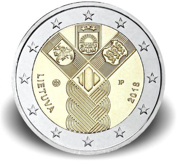 """2 € Litauen """"100 J. Unabhängigkeit"""" 2018 CN bfr"""