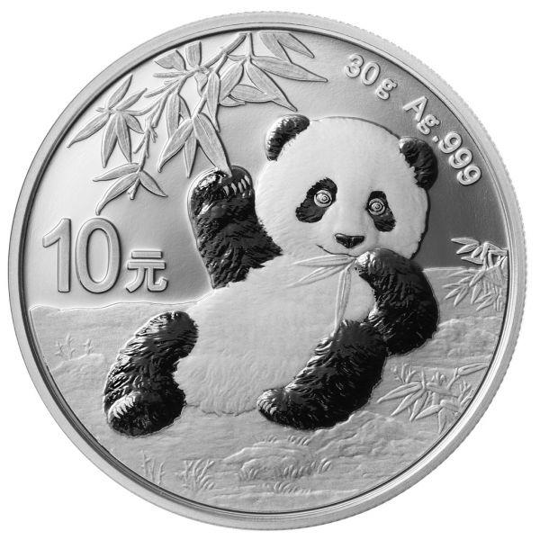 10 CNY China Panda 2020 Silber St