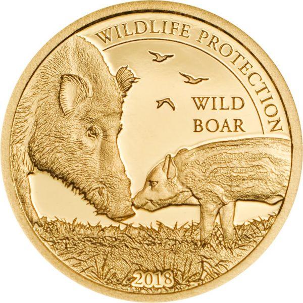 "1.000 Togrog Mongolei ""Wild Boar"" 2018 Au PP"