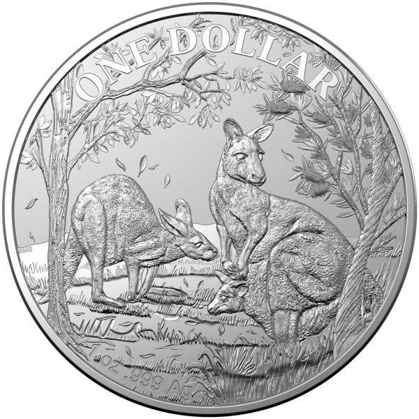 1 $ Australien Känguru 2019 Kapsel Silber St