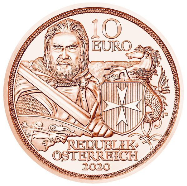 10 Euro Österreich Standhaftigkeit 2020 Kupfer vz