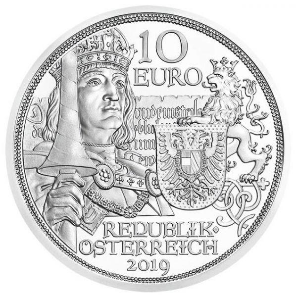 """10 € Österreich """"Ritterlichkeit"""" 2019 Silber hgh"""