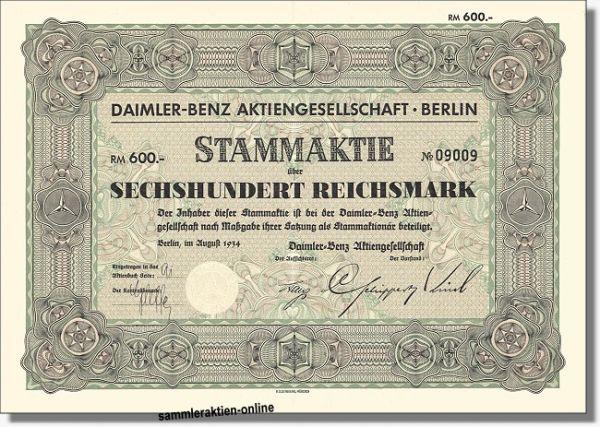 Histor. Wertpapier DAIMLER BENZ Aktie 1934
