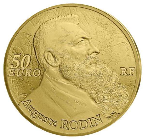 """50 € Frankreich """"Auguste Rodin - Bildhauerei"""" 2017 Au PP"""