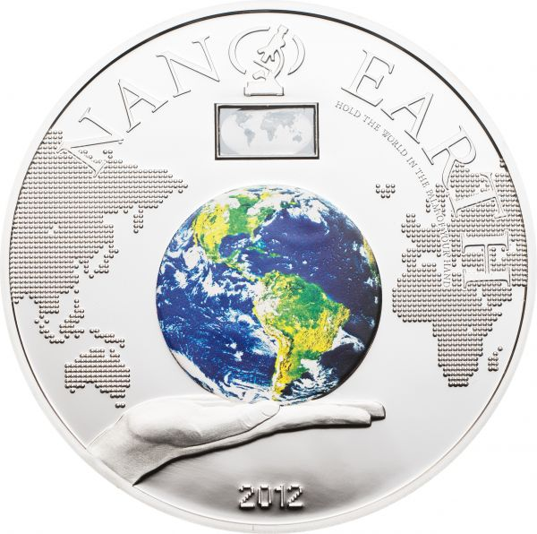"10 $ Cook Island ""Nano Earth"" 2012 Ag PP"