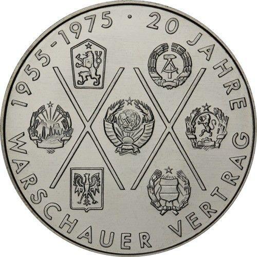 10 Mark DDR 20 J. Warschauer Vertrag 1975 Cn St