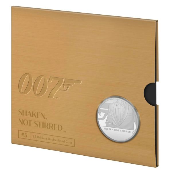 5 Pfund GB James Bond Geschüttelt, nicht gerührt 2020 CN St #3