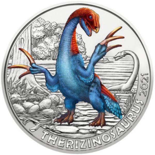 3 Euro ÖS Dinotaler Therizinosaurus 2021 Buntmetall hgh