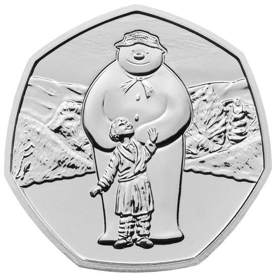 50 Pence Großbritannien Schneemann 2019 CN St Blister