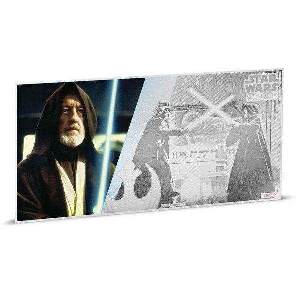 "1 Dollar Niue ""Star Wars - Obi-Wan Kenobi"" Banknote 2018 Ag St"