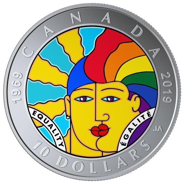"""10 $ Kanada """"Gleichheit"""" 2019 Silber St"""