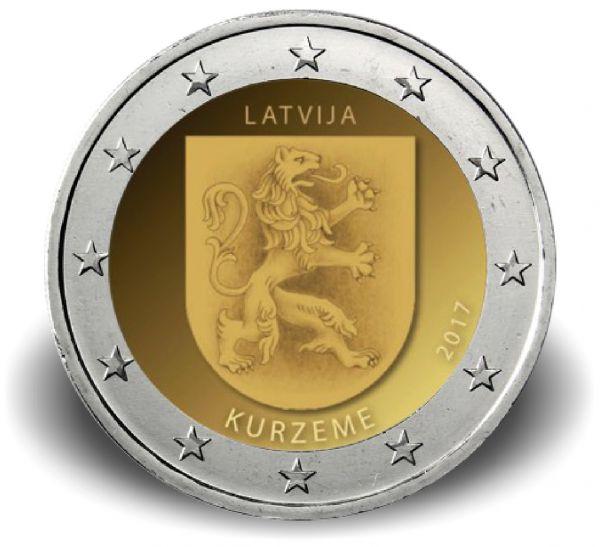 "2 € Lettland ""Kurzeme"" 2017 bfr CN"
