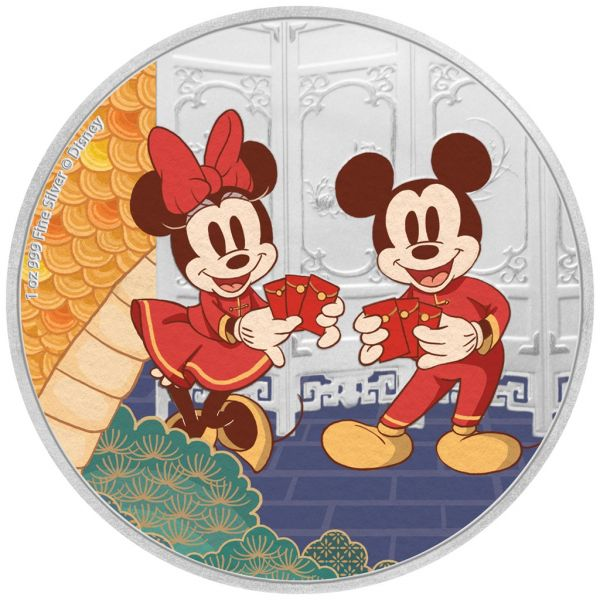 2 Dollar Niue Disney™ - Jahr der Maus Langlebigkeit 2020 Silber PP