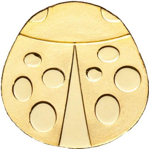 "1 $ Palau ""Glück - Marienkäfer"" Gold St"