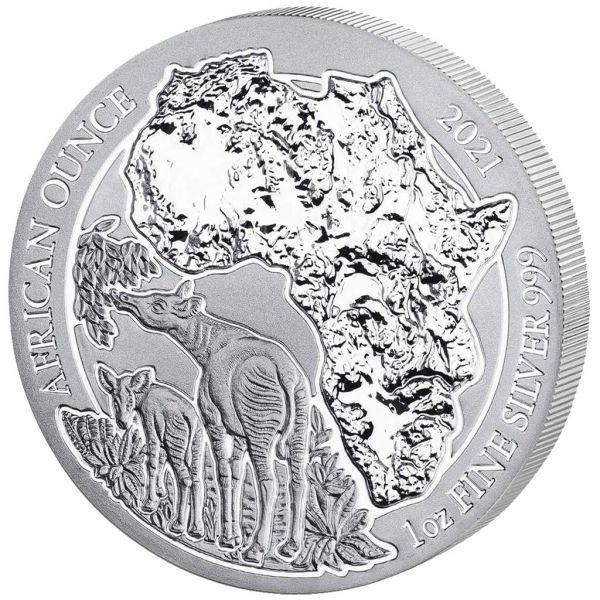 50 RWF Ruanda Okapi 20201 1oz Silber St