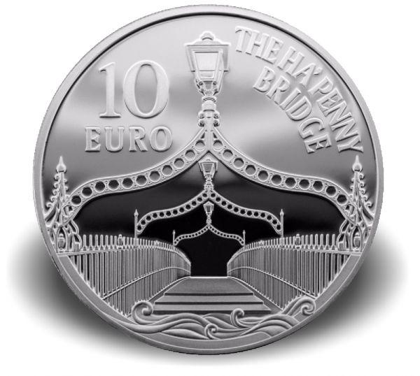 """10 Euro Irland """"Ha´Penny Brücke"""" (Eurostern) 2017 Ag PP"""