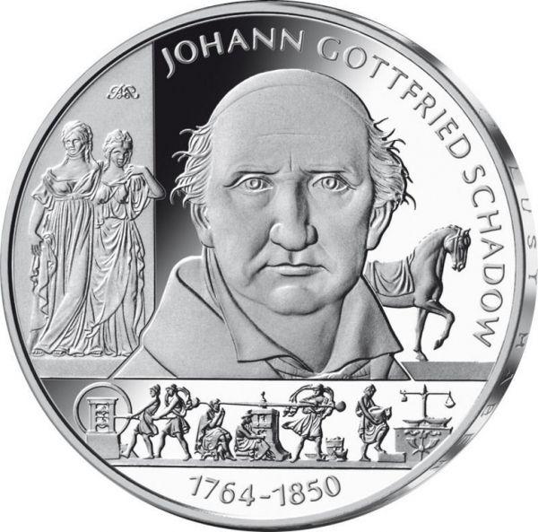 """10 € DE """"250. Geb. Johann Gottfried Schadow"""" 2014 CN St"""