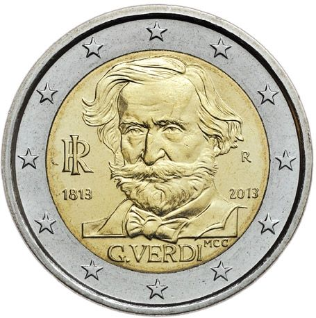 """2 € Italien """"Giuseppe Verdi"""" 2013 CN vz"""