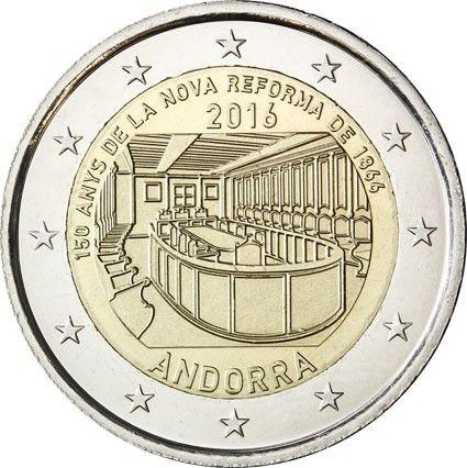 "2 € Andorra ""150 J. Reform v. 1866"" 2016 CN St"