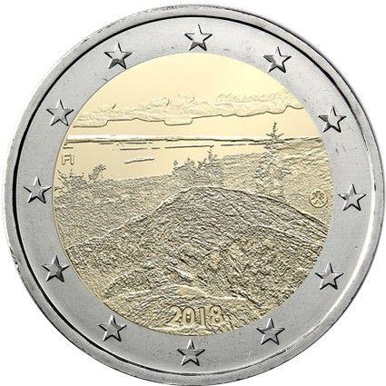 """2 € Finnland """"Finnische Landschaften - Koli National Park"""" 2018 CuNi bfr"""