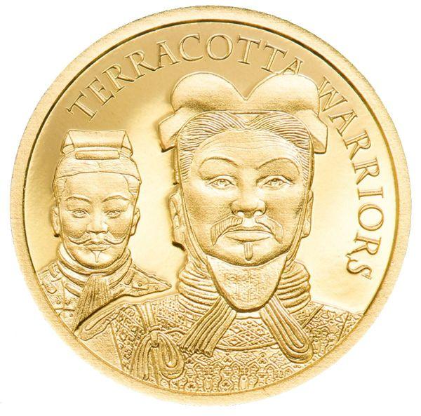 5 Dollar Cook Island Terrakotta Krieger 2021 Gold PP