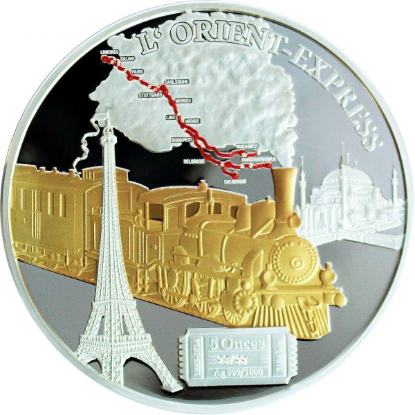5000 CFA Kamerun L'Orient-Express Silber 5 oz