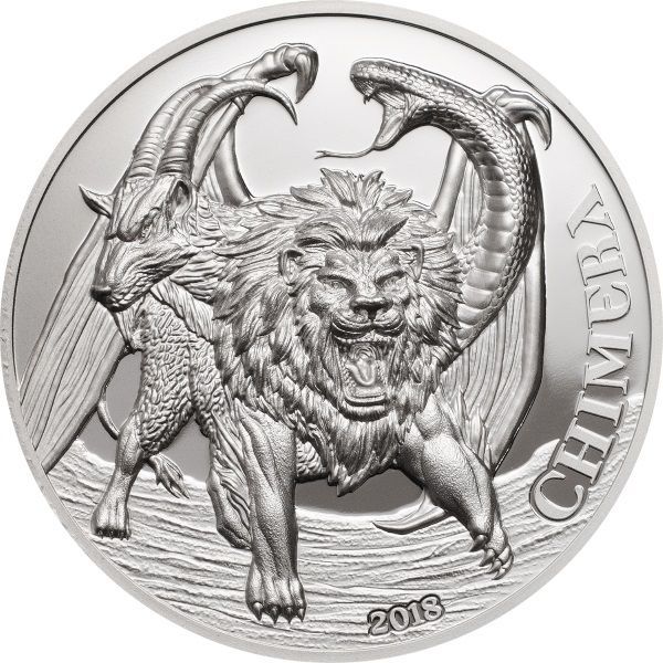"1500 Shillings Tansania ""Chimera"" 2018 Silber PP"