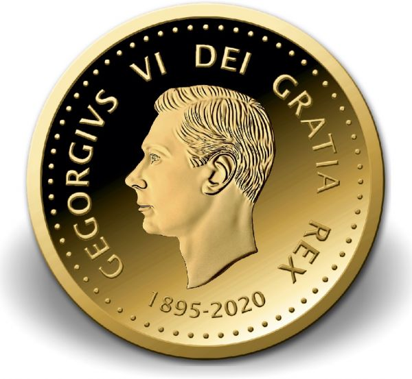 2,50 Dollar Niue 125. Geburtstag King George VI 2020 Gold PL