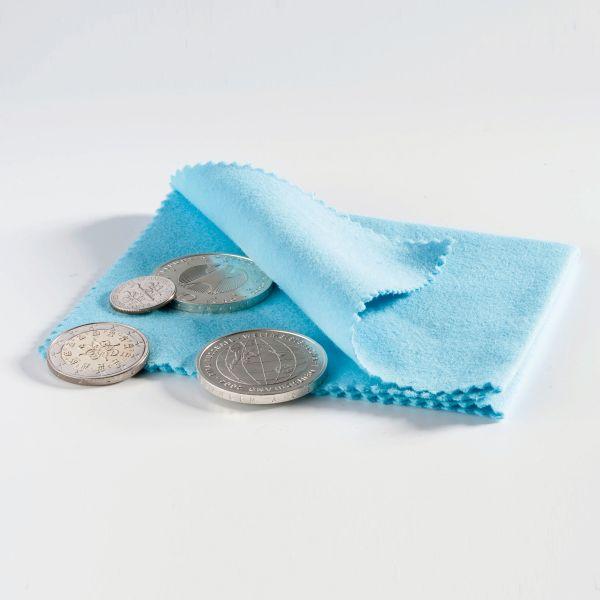 Münz-Poliertuch blau