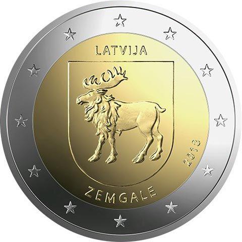 "2 € Lettland ""Zemgale"" 2018 CuNi bfr"