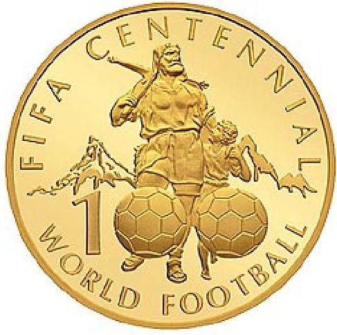 """50 CHF Schweiz """"100 Jahre FIFA"""" 2004 Gold PP"""